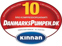 Danmarkspumpen.dk - Autoriseret installation - 10 års kompressorgaranti - 5 års garanti på øvrige dele