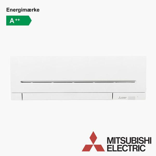 Mitsubishi MSZ-AP25 varmepumpe med og uden WiFi