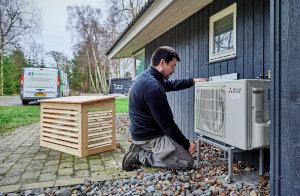 Montering af varmpumpe